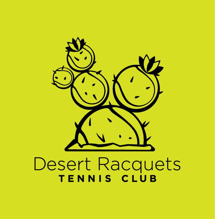 Desert Racquets Tennis Club logo identity
