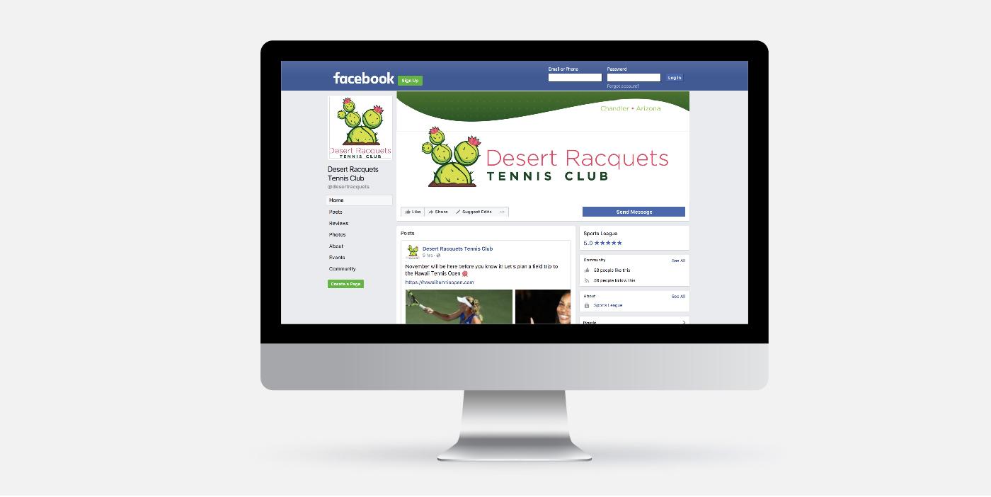 Desert Racquets Tennis Club Facebook page