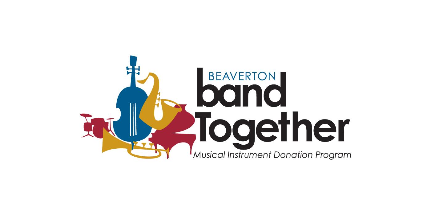 Beaverton Education Foundation logo identity for the Beaverton Band Together musical instrument donation program