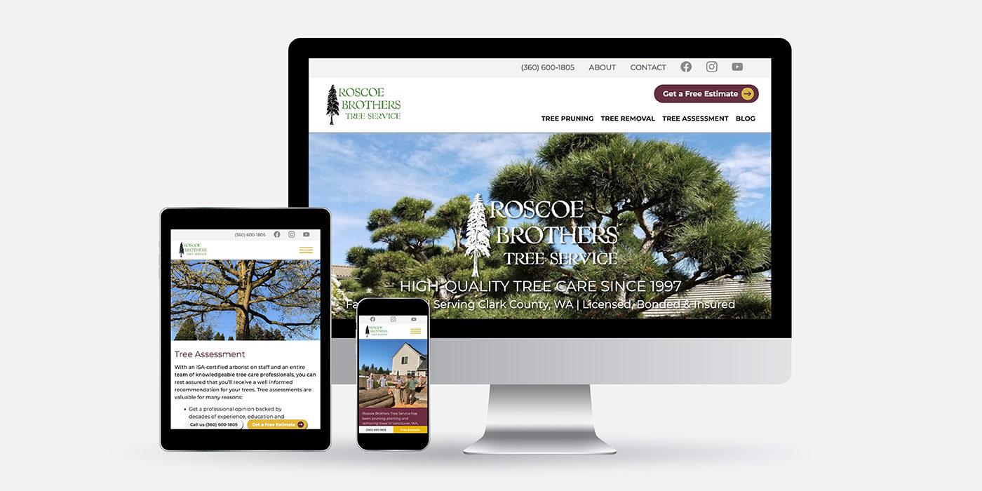 Roscoe Brothers Tree Service website